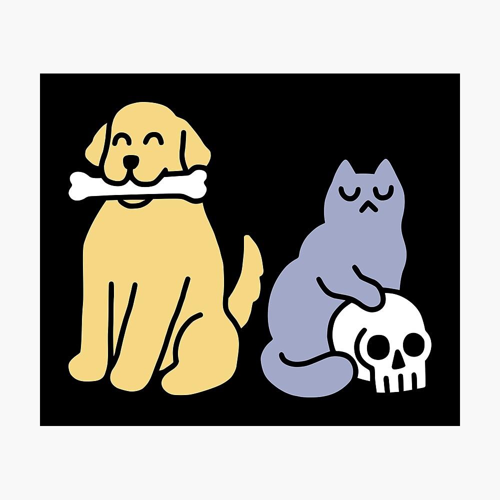 Good Dog Bad Cat Photographic Print