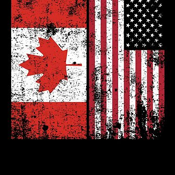Canadian American Flag Gifts Funny American Canadian Gifts by modernmerch