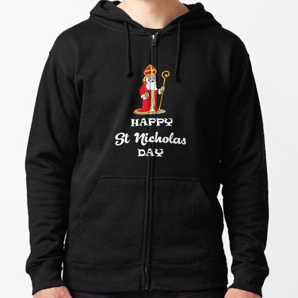 Happy St Nicholas Day Zipped Hoodie