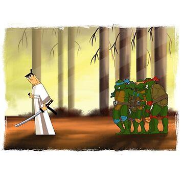 Samurai Jack meets the Turtles by mattskilton
