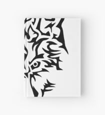 lonely wolf Hardcover Journal