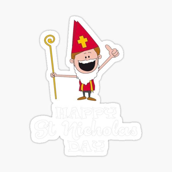 Happy St Nicholas Day Sticker