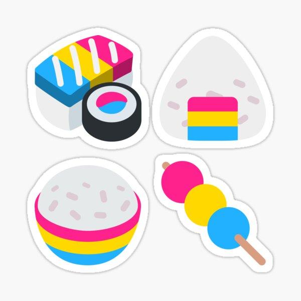 Pansexual Pride Japanese Food Emoji Sticker