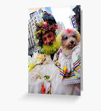 man and his dog Greeting Card