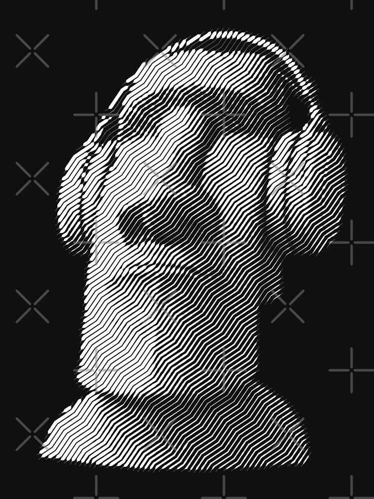 Moai wearing headphones by kislev