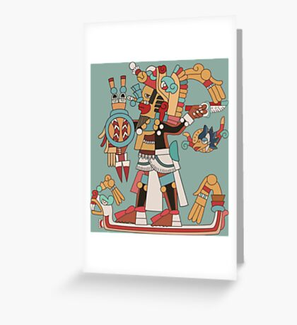 Aztec Warrior [Vector] Greeting Card