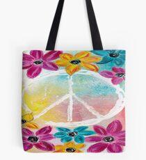 Floral Peace Tote Bag