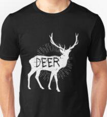 Deer! Printed Funny Wildlife Outdoor Sunset Gift Slim Fit T-Shirt