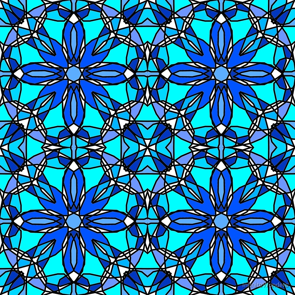 Blue Stained Glass by InfiniteWonders