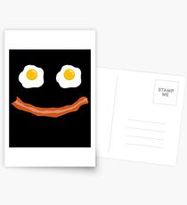 Eggs Bacon Smiley Funny Face American Breakfast Gift Postcards