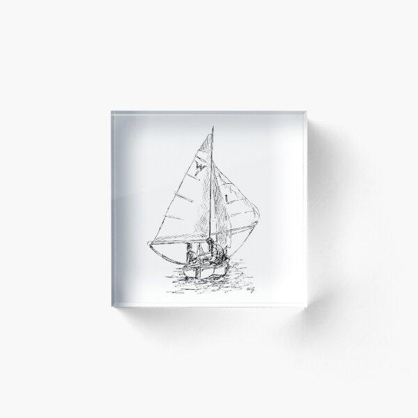 Downwind Sailing Acrylic Block