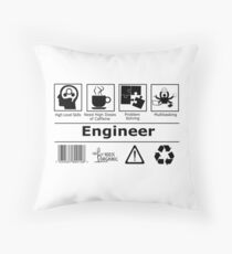 Engineer description Throw Pillow