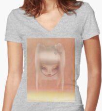 Grunge Doll Women's Fitted V-Neck T-Shirt