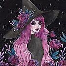 Magical Peony witch by ARiAillustr