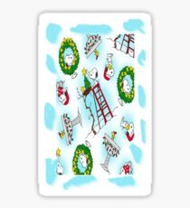 Dekoration Snoopy Christmas Sticker