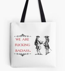vintage pop culture - We are fucking badass Tote Bag