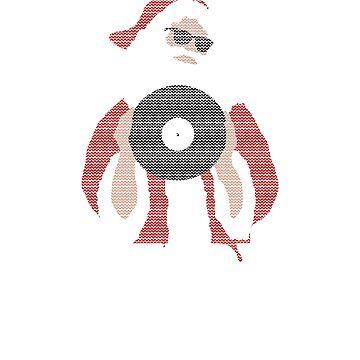 Merry Mixmas Vinyl DJ Santa Claus Father Christmas by SoulVisible