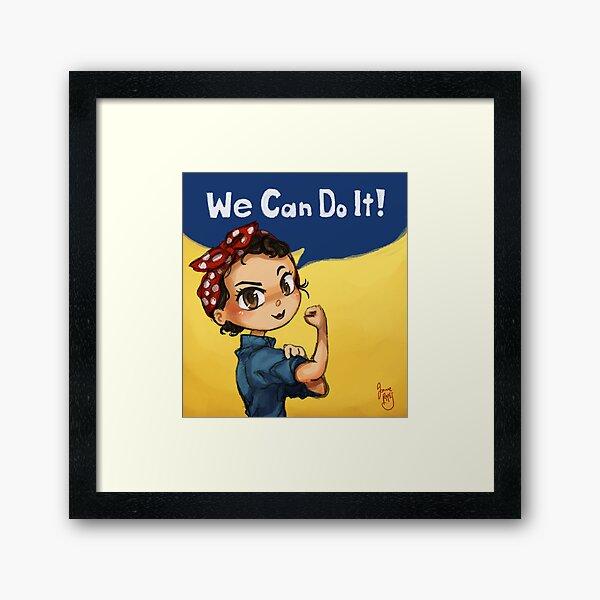 Rosie the Riveter Framed Art Print