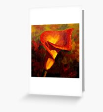 Fiery Calla Lily Greeting Card