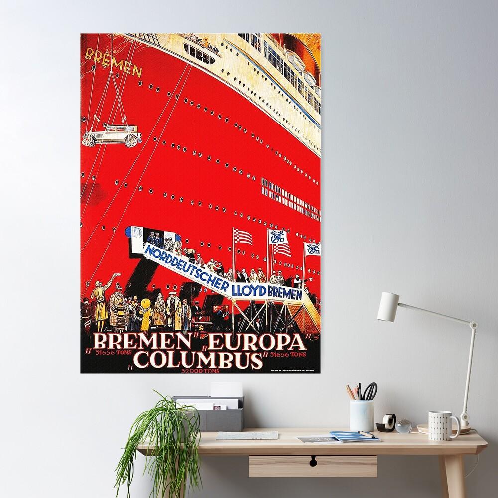 North German Lloyd ocean liner Bremen, 1929 Poster