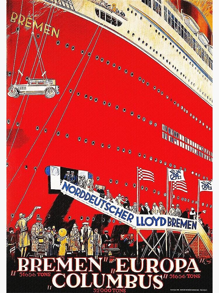 North German Lloyd ocean liner Bremen, 1929 by edsimoneit