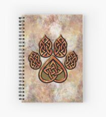 Celtic Knot Pawprint - Prints and Cards Spiral Notebook