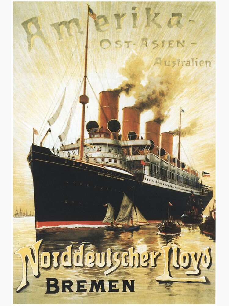 "To ""Amerika"", SS Kaiser Wilhelm Advertisement by edsimoneit"