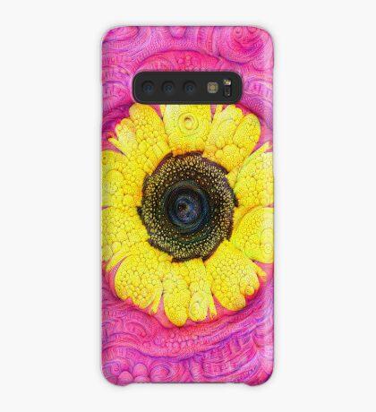 Sunflower on pink #DeepDream Case/Skin for Samsung Galaxy