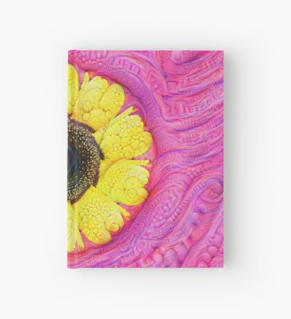 Sunflower on pink #DeepDream Hardcover Journal
