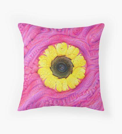 Sunflower on pink #DeepDream Floor Pillow
