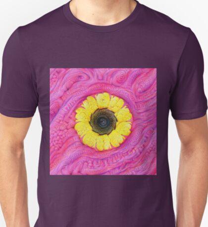 Sunflower on pink #DeepDream T-Shirt
