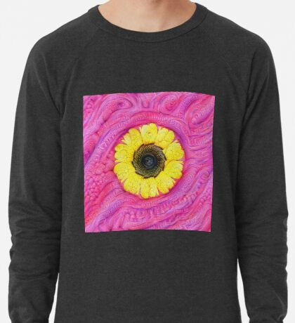 Sunflower on pink #DeepDream Lightweight Sweatshirt