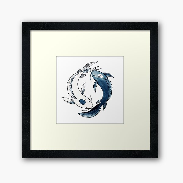 Tui and La - Yin & Yang Koi Framed Art Print