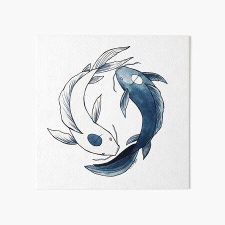 Tui and La - Yin & Yang Koi Art Board Print