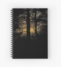 7 star ******* Lappland sunset - Sweden. Brown Sugar Story. Spiral Notebook