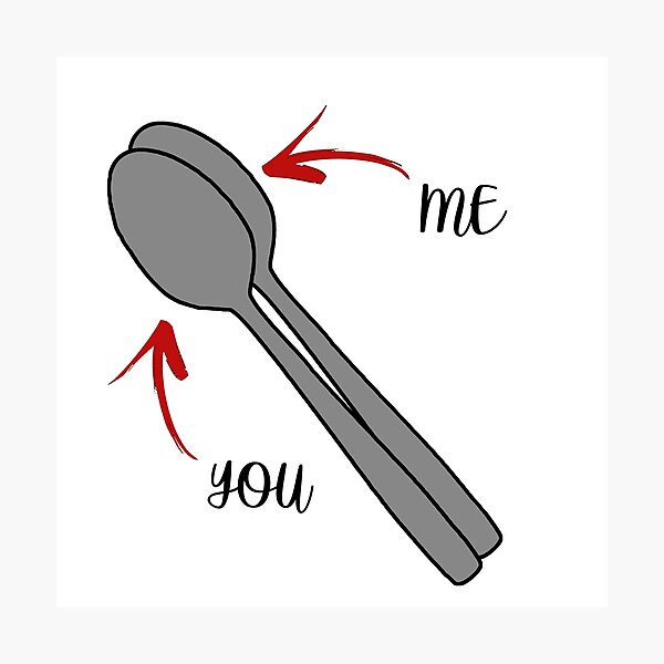 Big spoon little spoon monochrome print duo