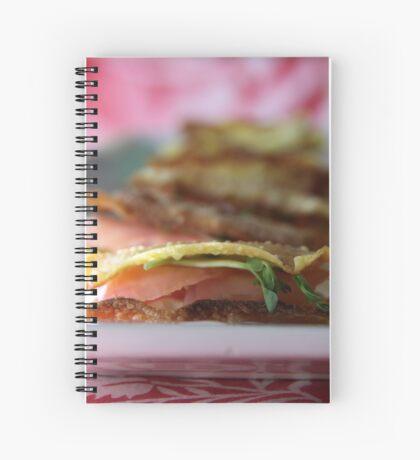 Wanting a Tuna snack? (Wonton Tuna Wasabi Stacks with recipe - makes 24) Spiral Notebook
