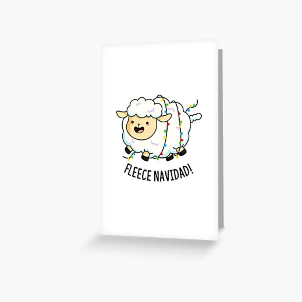 Fleece Navidad Christmas Animal Pun Greeting Card