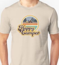 Happy Camper (Retro, 70s, Camping) Unisex T-Shirt