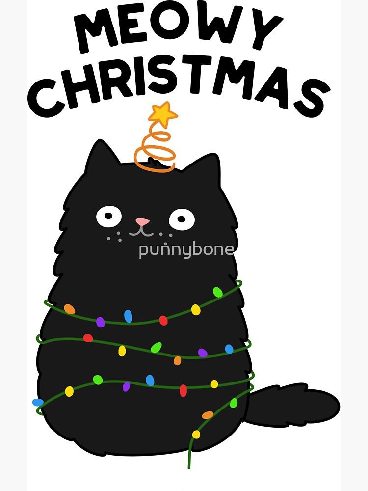 Meowy Christmas Animal Pun by punnybone