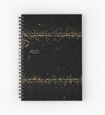 Bash terminal linux golden ornament Gold Spiral Notebook