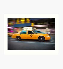 New York Taxi Art Print