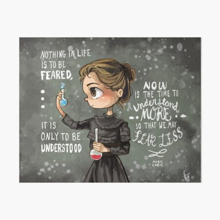 Marie Curie Art Board Print