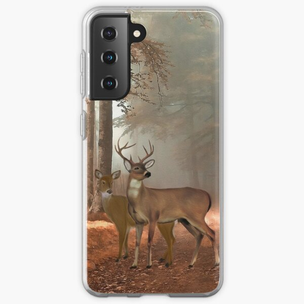 Male and Female Whitetail Deer Samsung Galaxy Soft Case
