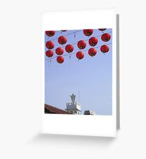 East meets West Greeting Card