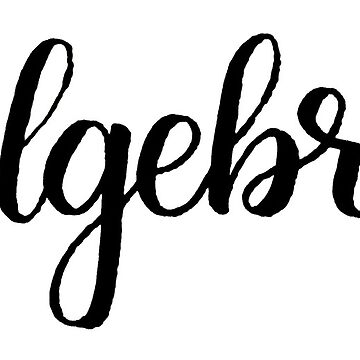 Algebra Calligraphy Labels by the-bangs