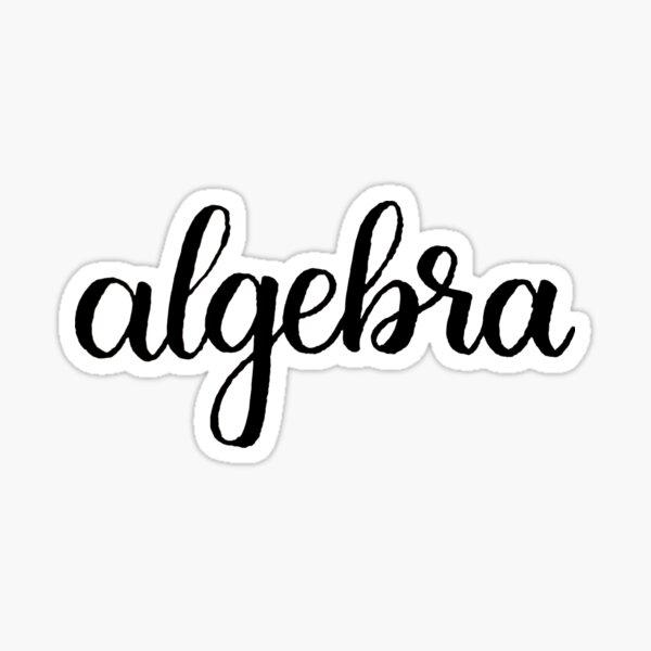 Algebra Calligraphy Labels Sticker