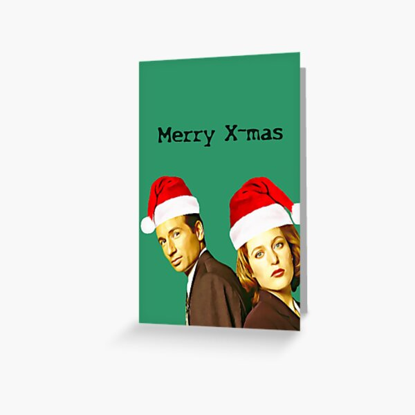 Christmas Mulder and Scully Greeting Card