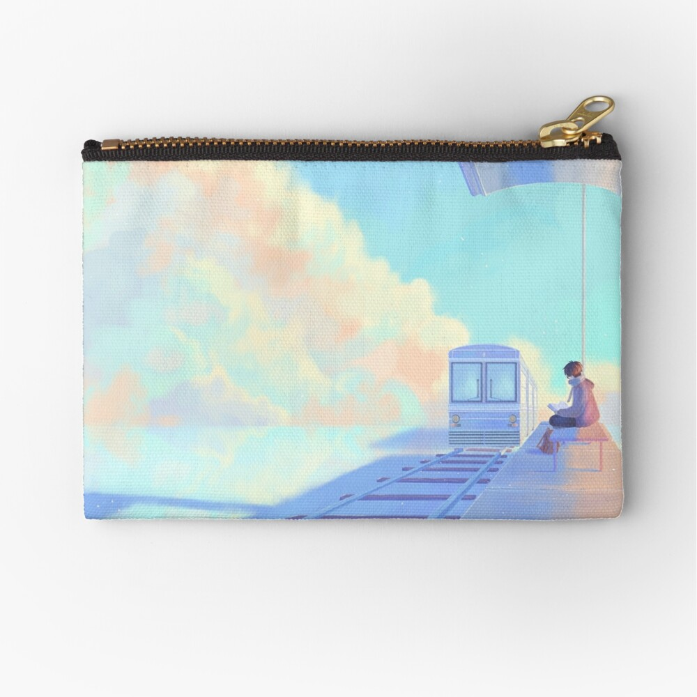 ghosting by #1 Zipper Pouch