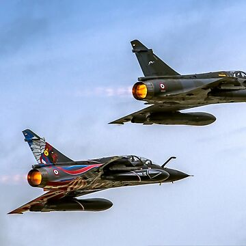 two France Air Force MIRAGE 2000 in flight. Photographed at Royal International Air Tattoo (RIAT)  by PhotoStock-Isra